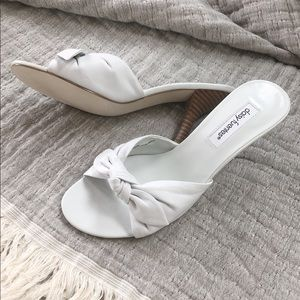 🆕 NWOB Daisy Fuentes Leather Slip On Heel